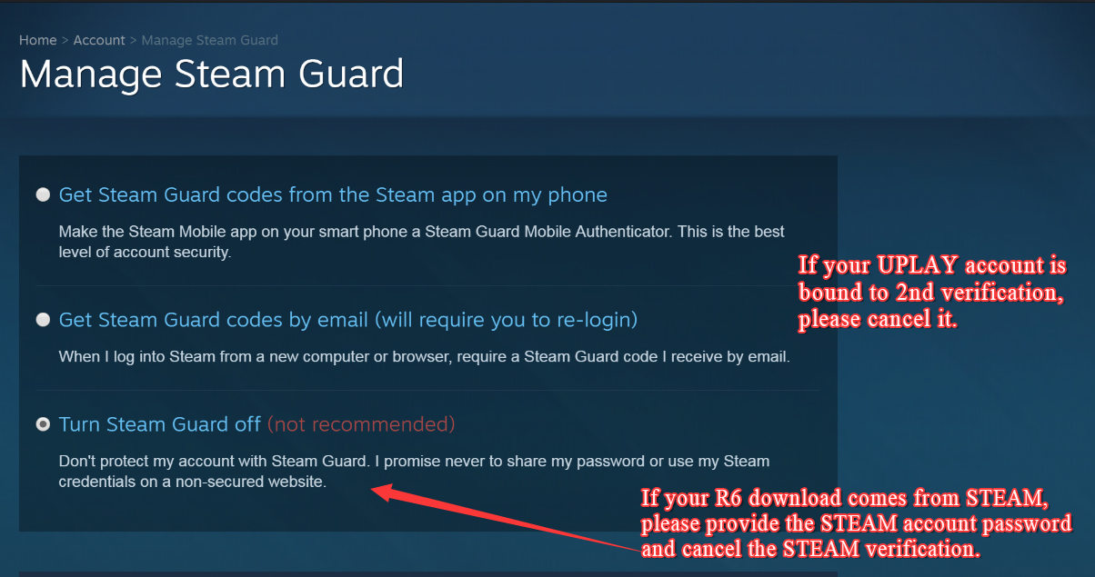 How to Turn Off Manage Steam Guard For Rainbow Six Siege